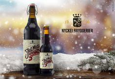 Nyckelbryggeriets Gammaldags blåbär Label Design, Packaging Design, Beer Bottle, Drinks, Drinking, Beverages, Beer Bottles, Drink, Design Packaging