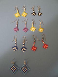 Pendientes hama beads by María Márquez Angulo