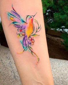 Baby Tattoos, Wrist Tattoos, Body Art Tattoos, Sleeve Tattoos, Tattos, Hummingbird Flower Tattoos, Hummingbird Tattoo Watercolor, Pretty Tattoos, Beautiful Tattoos