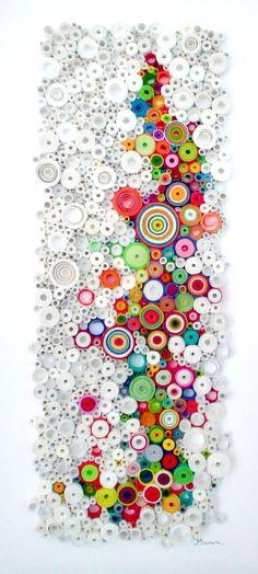 Modern wall art, Circular wall art, Original 3-Dimensional paper find art…