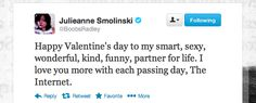 the internet is your valentine