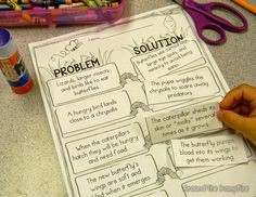 Butterfly life cycle problem/solution activity