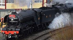 In Pictures: Flying Scotsman returns to tracks for tests - BBC News Yesterday News, Severn Valley, Model Railway Track Plans, Flying Scotsman, Steam Railway, Steam Engine, Steam Locomotive, News Articles, Bbc News