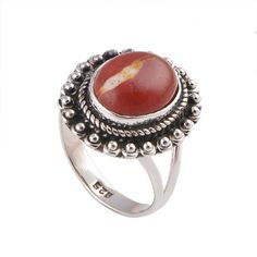 MOOKAITE 925 STERLING SIVER 5.49g RING JEWELLERY DJR-0548 #DSJ #RING