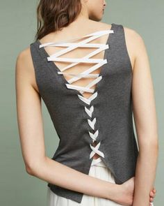 Womens Corset Style Waist Tie Knot Lace Up Detail Vest Ladies Peplum T Shirt Top