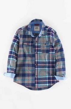Mini Boden Brushed Check Shirt (Toddler Boys, Little Boys & Big Boys) available at #Nordstrom