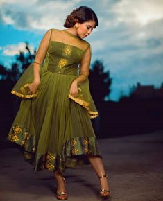 Lady In Green Habesha Kemis Chiffon Dress With Sheer Bell Sleeves and Top Ethiopian Traditional Dress, African Traditional Dresses, African Attire, African Dress, African Print Dress Designs, Ankara Designs, African Prints, Habesha Kemis, Ethiopian Dress