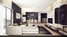 Modern Rustic Living Room 3 by vermillion3D.deviantart.com on @DeviantArt