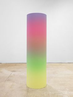 karmakarmanyc:  Rob Pruitt Gradient Cylinder 2013 Acrylic and...