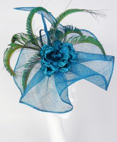 Peacock/Teal  Fascinator Hat for Kentucky Derby by Hatsbycressida, $90.00
