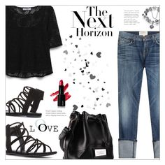 Denim & Lace by suzanne228 on Polyvore featuring polyvore fashion style MANGO Current/Elliott clothing