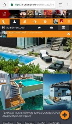 #comfortable #relax in #own #swimming #pool around #house or #roofaparment #penthouse #bluewater in #timeline on #socialnetwork @xuniting