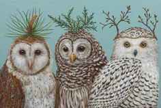 """Party Owls"" by Vicki Sawyer"