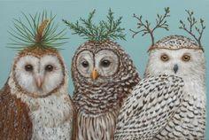 owls by Vicki Sawyer