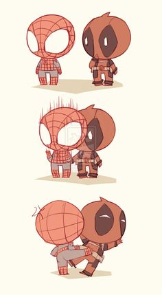 Lil Spidey And Deadpool