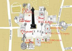 Julia Pfaller - Map of Place Vendome, Paris