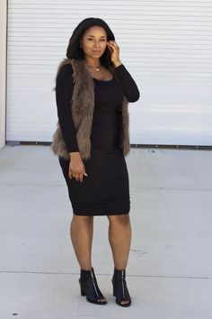 5 ways to wear a plus size fur vest that you will love