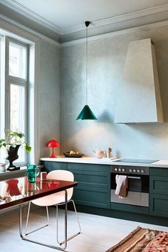 Cosmopolitan Chique Kitchen Polar Blue Black Hills