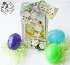 Learn how to make this Easter tag with a great tutorial from DT member Gloria Stengel! So gorgeous! The tutorial uses Secret Garden and Place in Time. Have fun!