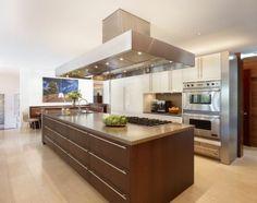 cuisine ilot central bois moderne