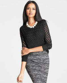 Tuck Stitched Woven Back Top | Ann Taylor