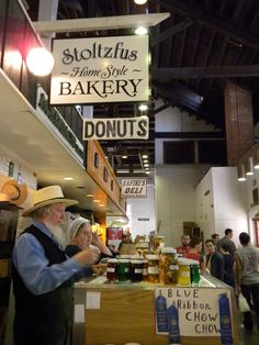 Stoltzfus Bakery at Lancaster PA Central Market - Amish Food Vendors . I love the Amish! Pennsylvania Dutch Country, Lancaster Pennsylvania, Lancaster County, Amish Farm, Amish Country, Amish Town, Amish Bakery, Amish Village, Amish Family