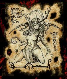 Cosplay de larp diosa HIPERBÓREA cthulhu Necronomicón fragmento demon grimoire bruja magia