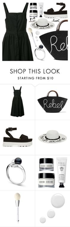 """""""black & white summer"""" by sharmarie ❤ liked on Polyvore featuring Piamita, Eugenia Kim, Miu Miu, August Hat, Marc Jacobs, Topshop and Tiffany & Co."""