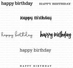 Keep It Simple: Birthday III Mini Stamp Set: Papertrey Ink Clear Stamps Dies Paper Ink Kits Ribbon