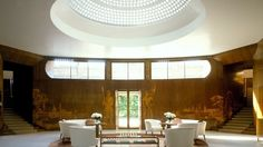 """ulfgbohlin: """"""""Eltham Palace: inside the newly restored Greenwich time machine - Eltham Palace, a headspinning blend of Tudor, Renaissance and Modernist, Art Deco. The entrance hall at Eltham Palace designed by Rolf Engstrommer (English."""