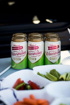 Austin Eastciders Watermelon Cider is my favorite drink at the football tailgate, or any fall celebration if we're being honest! Football Tailgate, Tailgate Food, Football Food, Football Season, Tailgating, Football Brownies, Pretzel Factory, Veggie Tray