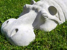 Hippopotamus Large Garden Ornament Hippo Sculpture 27 por martsart