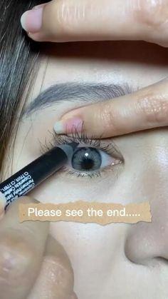 Simple Eyeliner, Simple Eye Makeup, Cute Makeup, Makeup Art, Natural Makeup, Makeup Tips, Beauty Makeup, Makeup Looks, Doll Eye Makeup