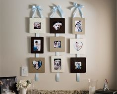 Ribbon Hanging Picture Frames 14  http://fabyoubliss.com/2012/02/01/make-these-pretty-functional-ribbon-hanging-frames/#