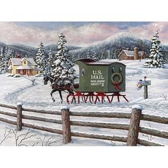 Old-fashioned Christmas art by noted Canadian painter Richard De Wolfe Christmas Scenes, Christmas Past, Country Christmas, Christmas Pictures, All Things Christmas, Winter Christmas, Christmas Canvas, Christmas Greetings, Winter Szenen