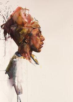Watercolour workshop with Aine Divine Watercolor Artists, Watercolor Portraits, Watercolor Tattoo, Figure Painting, Painting & Drawing, African Paintings, Portrait Art, Art Tutorials, Art Inspo