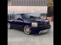 Jacked Up Trucks, Chevy Trucks, Chevrolet Silverado, Slammed, Iphone Wallpaper, Ford, California, Building, Youtube