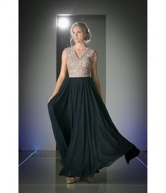 Classic and elegant! This vintage inspired long dress features a sexy v-neck sleeveless mocha nude bodice, layered with ...Price - $167.00-At6Lxgyp