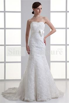 White Hourglass Soft Sweetheart Mermaid/Trumpet Wedding Dresses