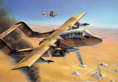 Rockwell Bronco in Iraq Ov 10, Aviation Art, Military Art, Warfare, Air Force, Fighter Jets, Aircraft, Planes, Vehicles