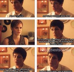 Perks of being a wallflower - i just realized what he meant, wow