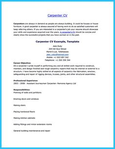 Carpenter Resume Samples Australia Template Construction Writing Tips