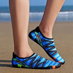 Men Casual Beach Slip On Striped Flats Athletic Yoga Gym Sports Swim Water Shoes Water Sport Shoes, Water Shoes, Sports Shoes, Ad Sports, Womens High Heels, Womens Flats, Mens Beach Shoes, Aqua Shoes, Striped Flats