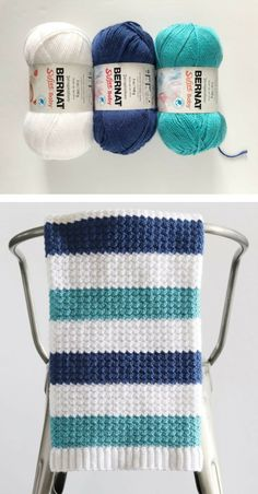 Crochet Afghan Patterns Free Pattern - Crochet Nautical Baby Blanket - Hi there Daisy Farm friends! I'm very excited to share this blanket pattern with you because I made it for… Crochet Afghans, Crochet Blanket Patterns, Crochet Scarves, Baby Blanket Crochet, Baby Afghan Patterns, Crochet Granny, Crochet For Boys, Free Crochet, Free Knitting