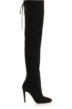 a2f2e85bbf2 Aquazzura s over-the-knee boots have been crafted in Florence from smooth  and supple