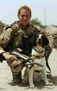 In Afghanistan this pup saved this soldiers life from being killed by an IED