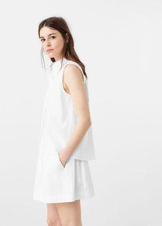 Poplin skirt -  Women | MANGO USA