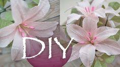 Лилия из гофрированной бумаги, цветы из бумаги DIY Tsvoric Corrugated pa...