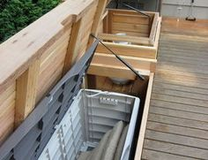 outdoor seating with storage inside!