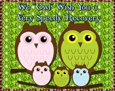 "Free online We ""Owl"" Wish You A Speedy Recovery ecards on Everyday Cards Morning Hugs, Morning Wish, I Think Of You, Told You So, Healing Wish, Valentine Day Cards, Valentines, Owl Card, Warm Hug"